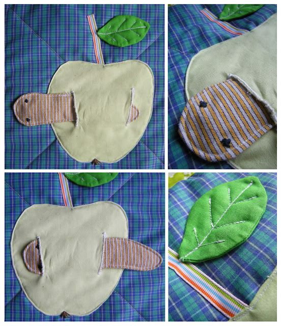 fun ideas for a quiet book from an adorable activity quilt.