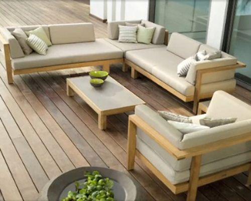 Mobilier extérieur, les tendances (1/2) Salon outdoor, esprit lounge #garden #jardin #outdoor #salon #lounge maison.neopodia.com
