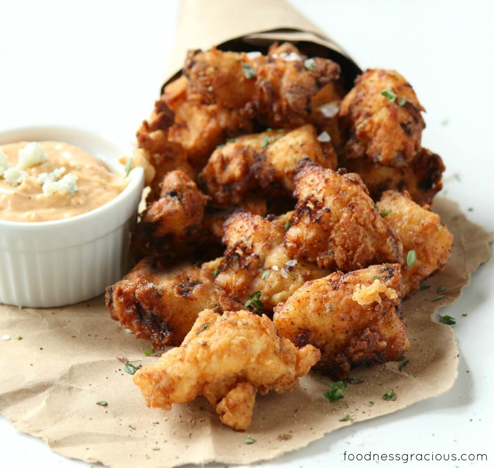 Crunchy and addictive, these chicken nuggets are the best I've ever tasted. Serve them with the spicy blue cheese dip and be prepared for game day!