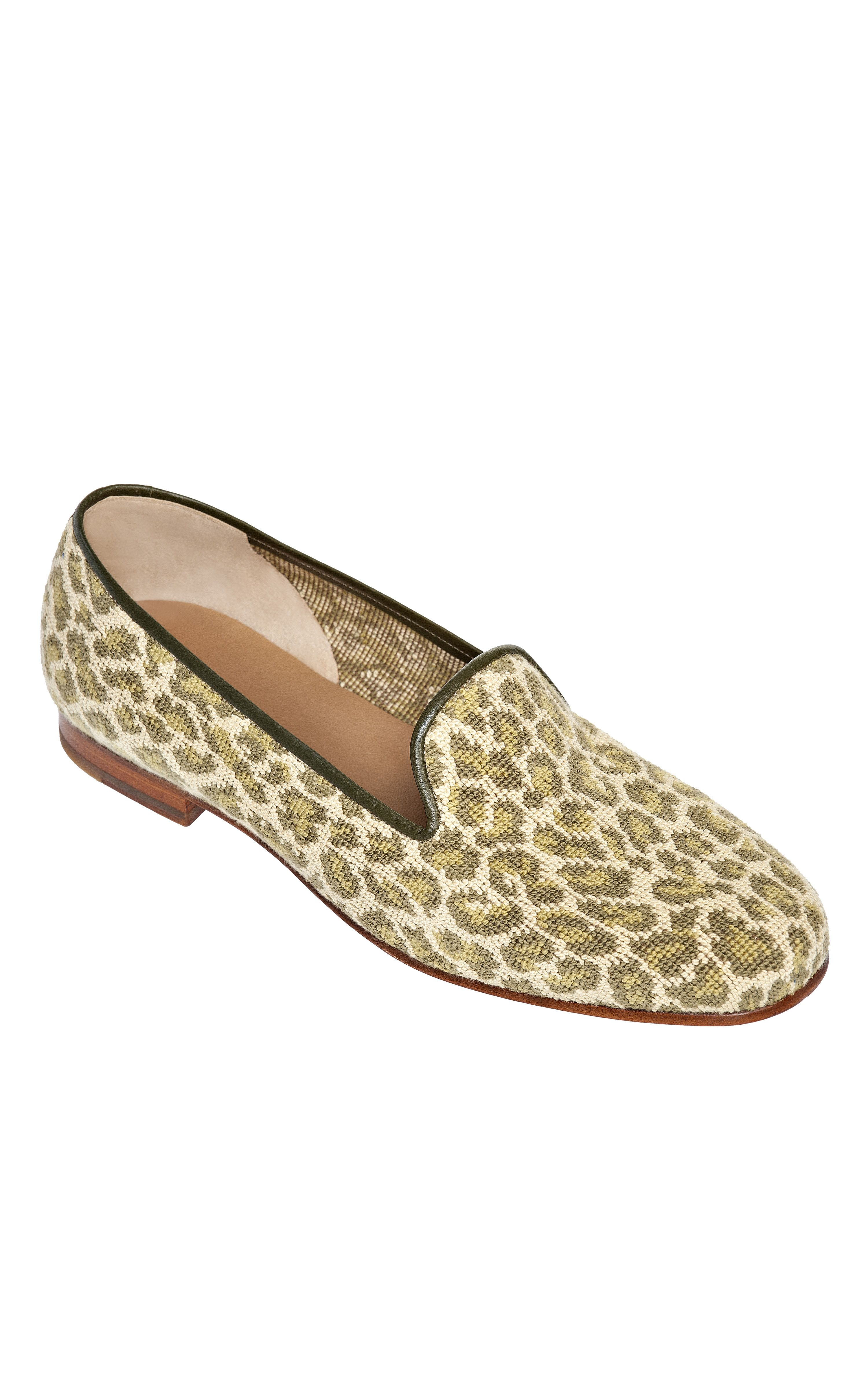 0d13b0c0b2bf Stubbs and Wooton Jane Olive Needlepoint Slippers
