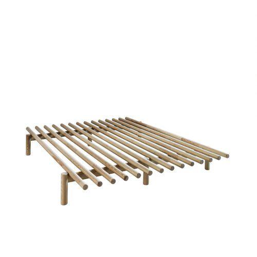 Massivholzbett Pace Karup Design Farbe: Naturbelassen, Größe: 140 x 200 cm, Matratzenart: Komfort
