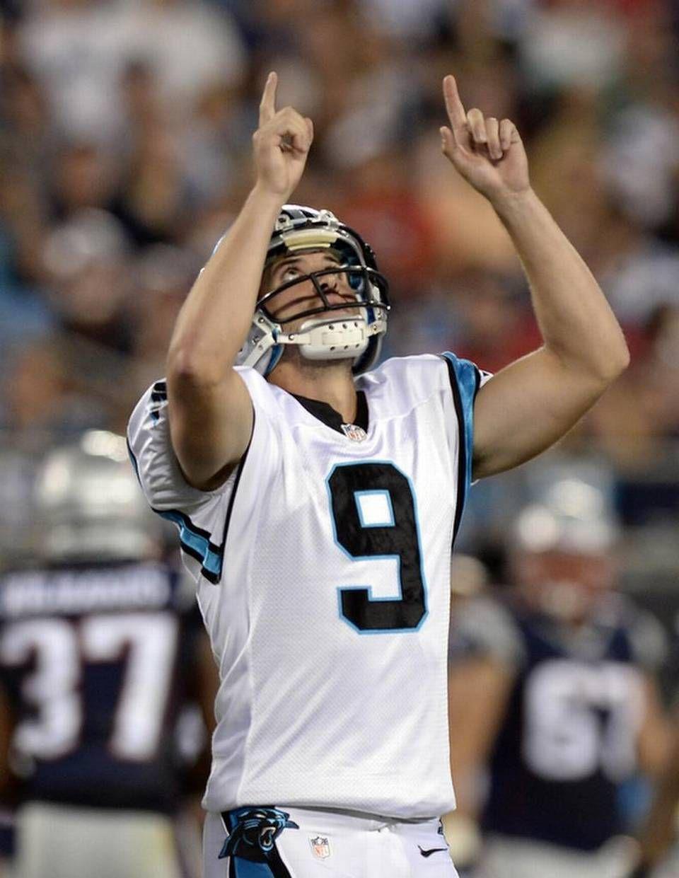 the best attitude 52989 a0170 Carolina Panthers' Graham Gano (9) points skyward after ...