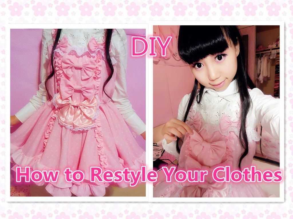 b747a6190b Kawaii DIY Dress- How To Restyle Your Old Clothes.