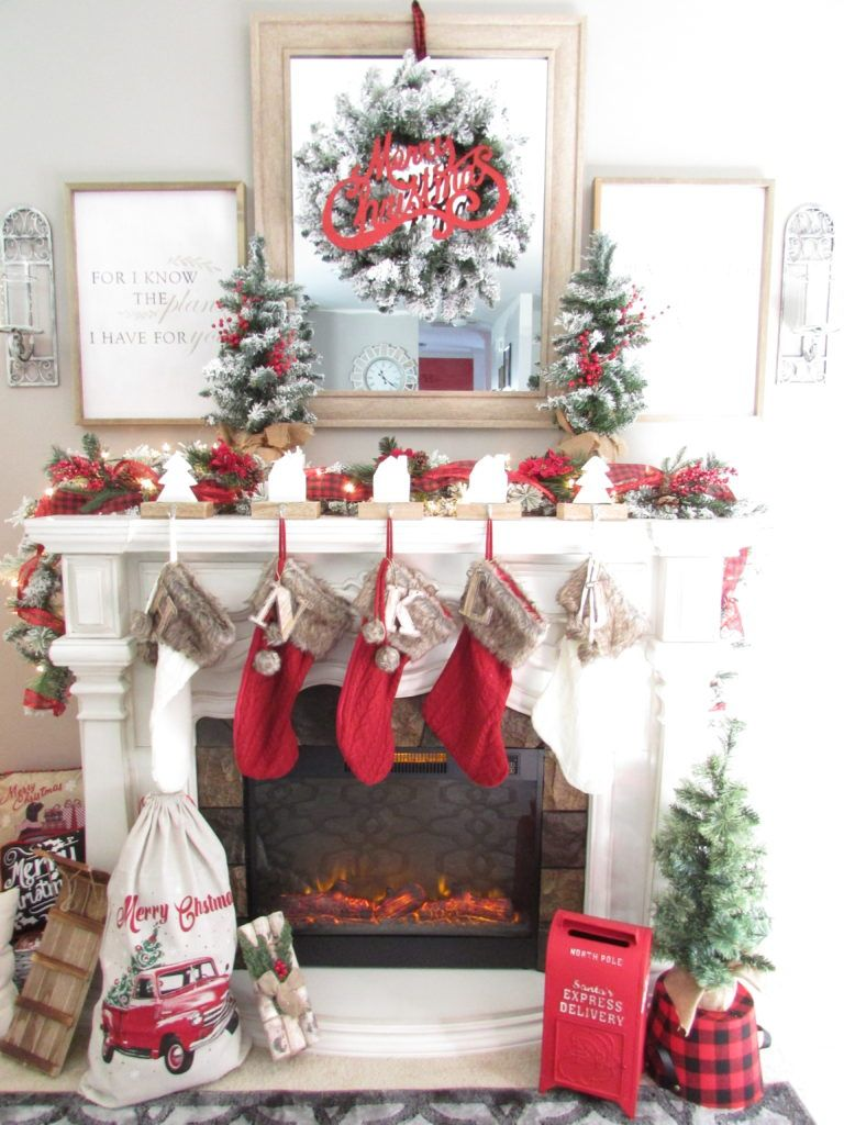 Creating A Rustic And Traditional Christmas Mantle Is Easy To Decorate For The Holiday Season