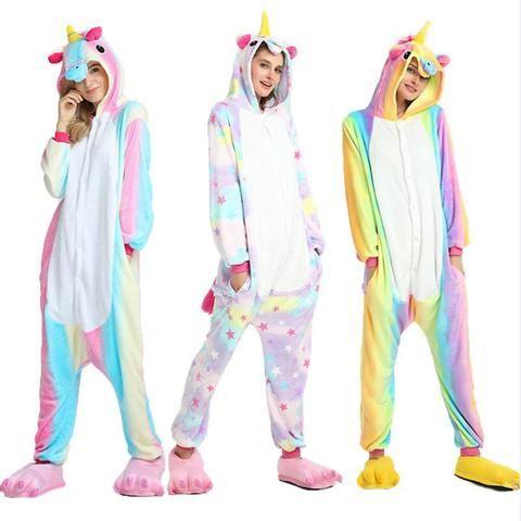 1e5c406f18dc Halloween Winter Cute Cartoon Animal Pegasus Pajamas Cosplay Flannel ...