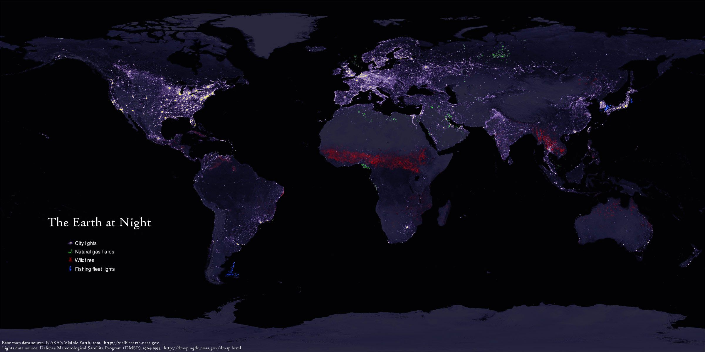 Orbital view earths lights at night color coded earth orbital view earths lights at night color coded gumiabroncs Image collections