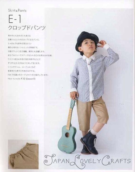 Kids Casual Clothing Patterns, Yuki Katagai, Japanese Sewing Book ...