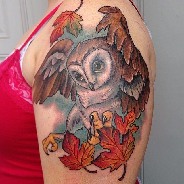 Tatuagem Coruja by Scotty Munster