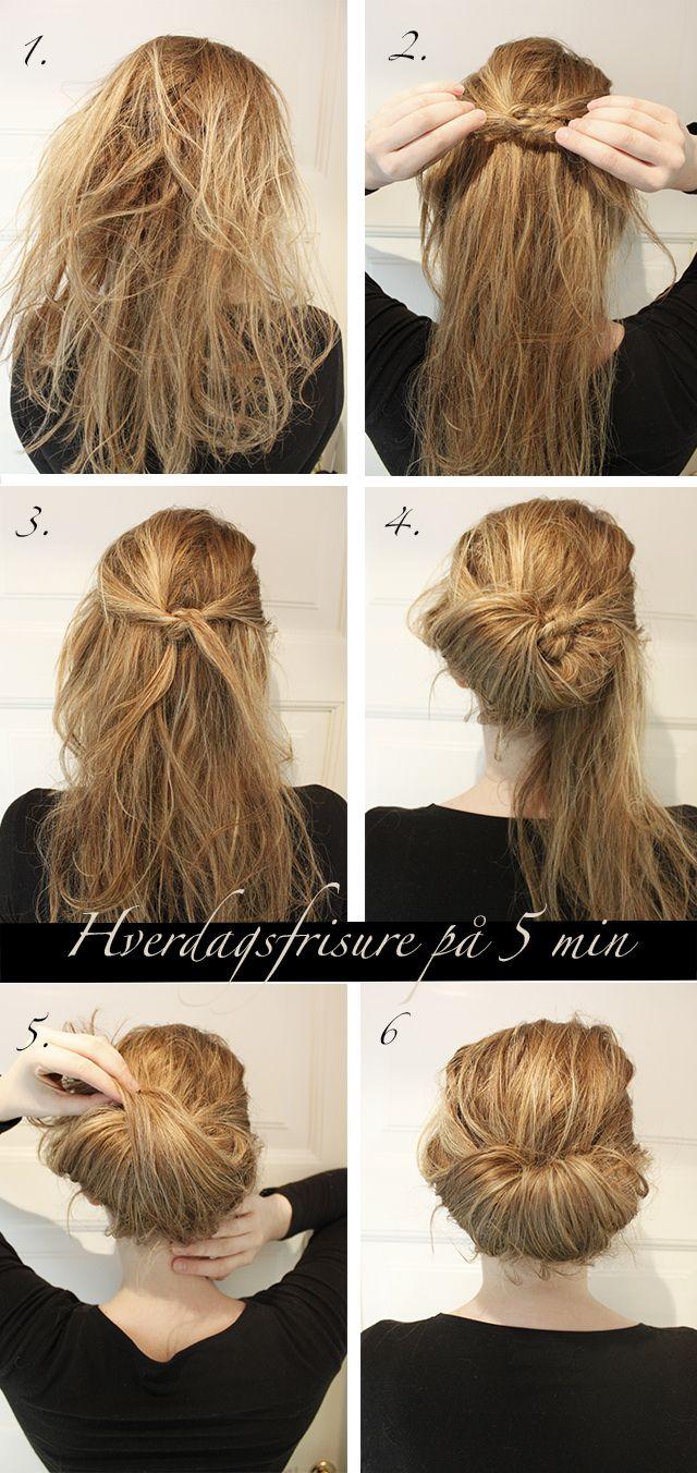 håropsætning skulderlangt hår