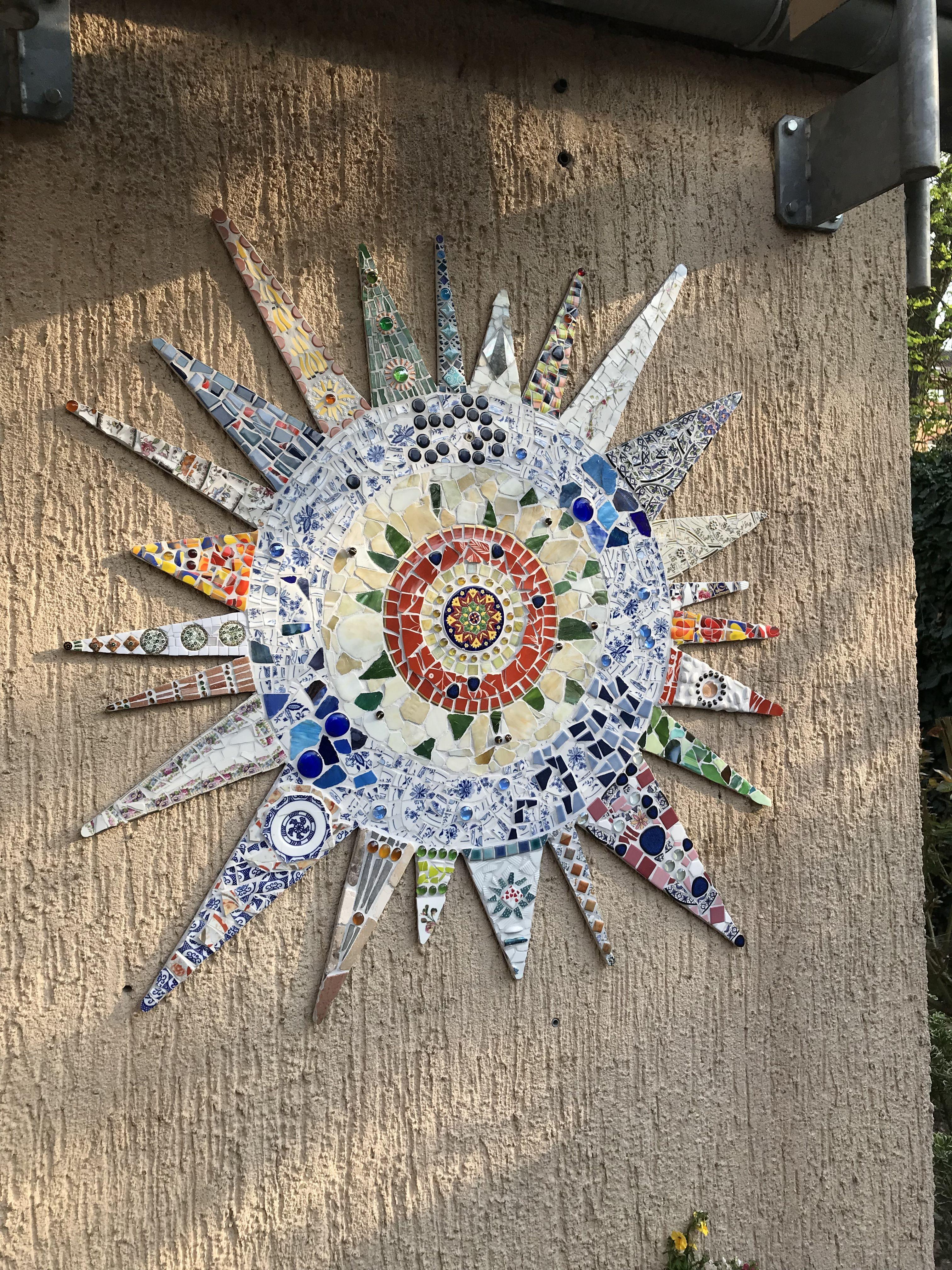 Mosaik Sonne Mosaik Mosaik Muster Mosaik Gartenkunst