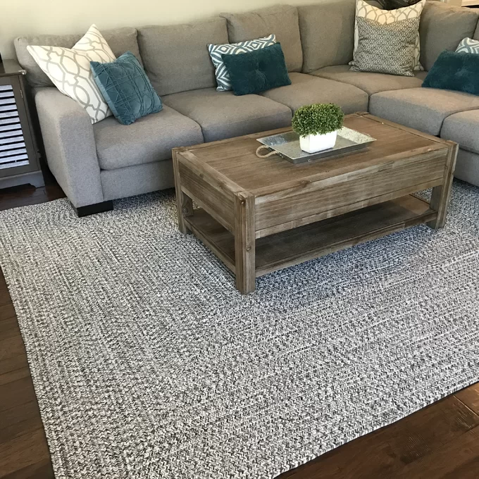 Bromborough Handmade Braided Charcoal Rug Living Room Rug Placement Indoor Outdoor Rugs Living Room Area Rug Placement Living Room