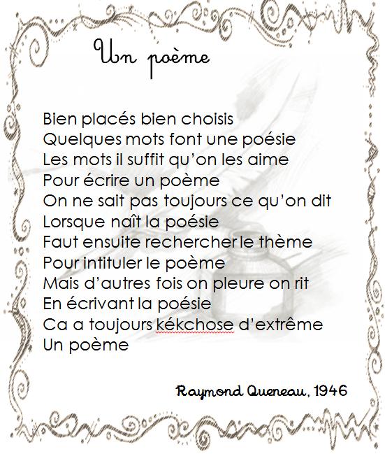 4fa35caaf17 Raymond Queneau - Un poème