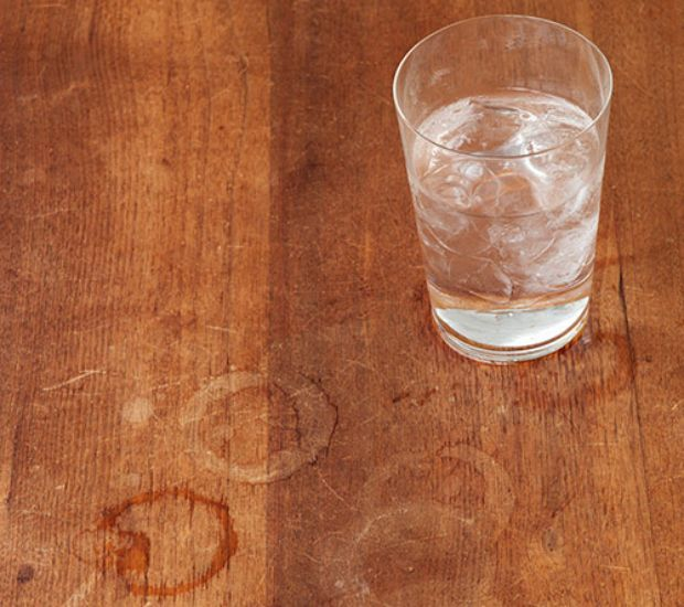 Water stains are usually lighter in color so they're ...