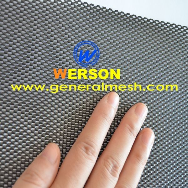 Black Coated Aluminum Limited Vision Mesh Dva Mesh Door Mesh For Australia One Way Restricted Mesh Dva Mesh Hebei Gen Mesh Screen Mesh Door Metal Net
