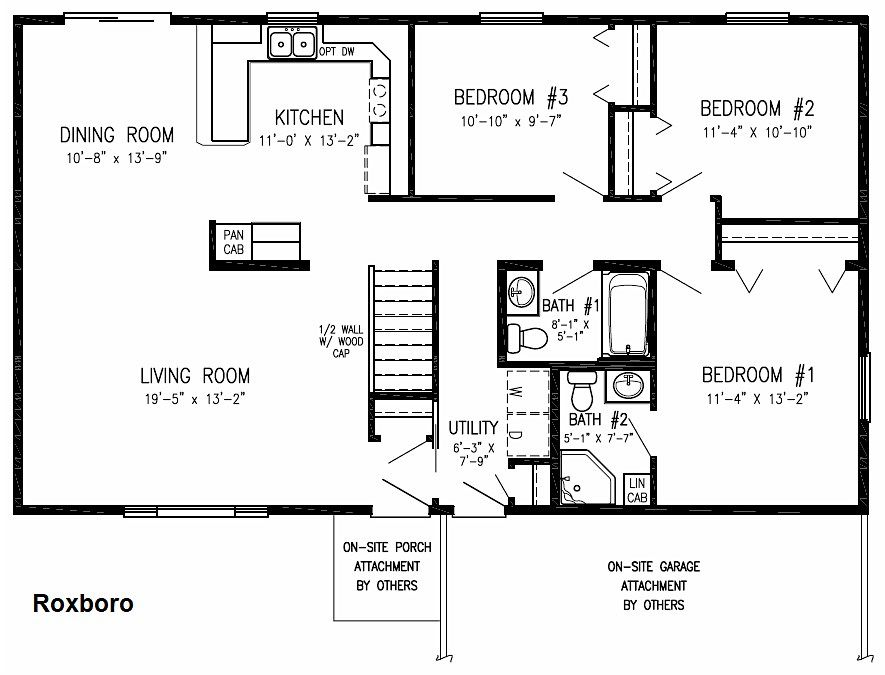 Floor Plan Roxboro Floor Plans House Floor Plans Floor Plans Ranch