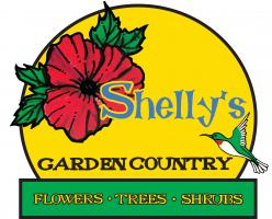 A new logo was created for Shelly's Garden Country. Shelly said she like hibiscus and hummingbirds and I went from there.