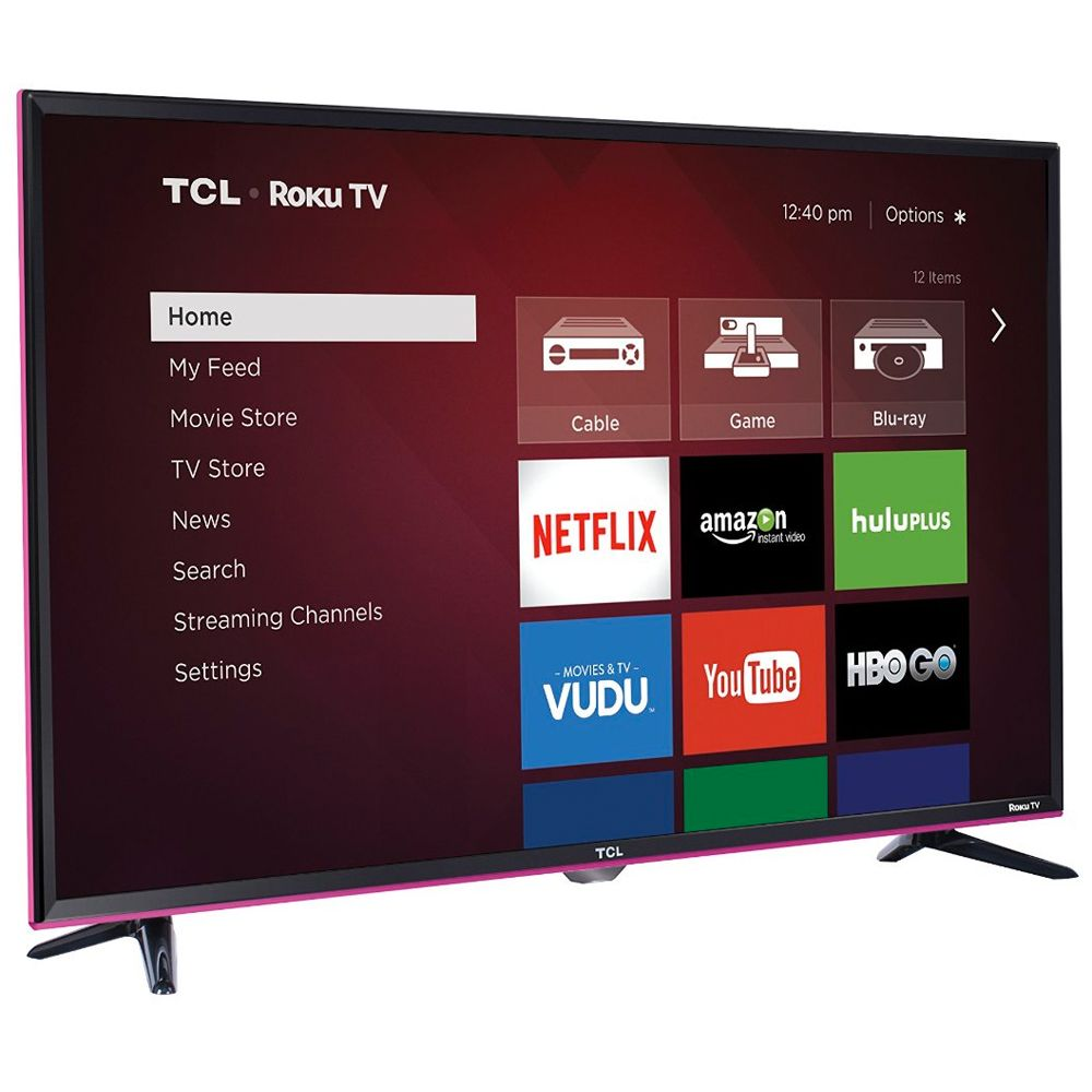 Tcl 32 in roku smart 720p 60hz pink led hdtv 32s3850p