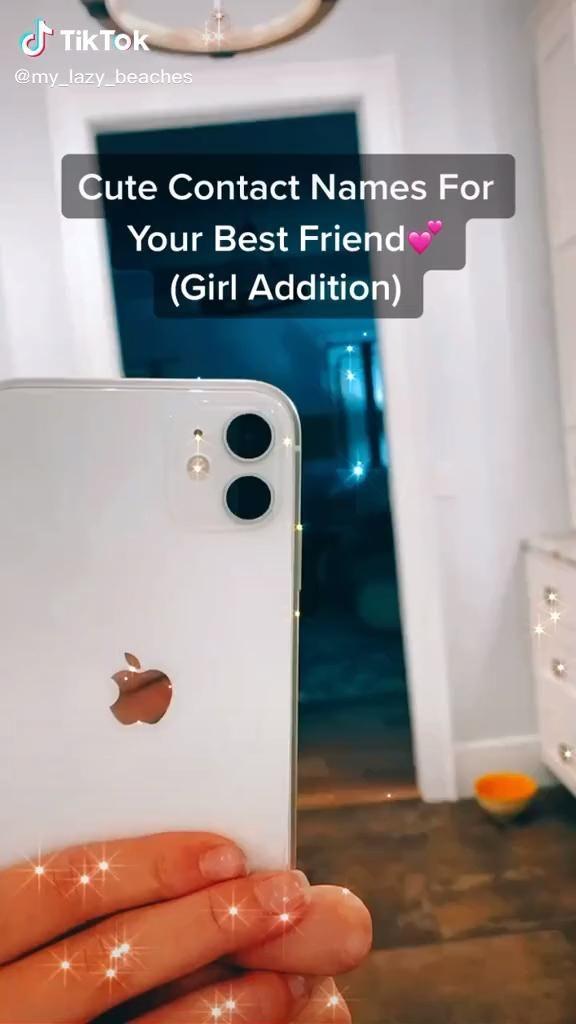 Cute Contact Names For Your Bestie Video Cute Friends Best Friends Whenever Best Friend Goals