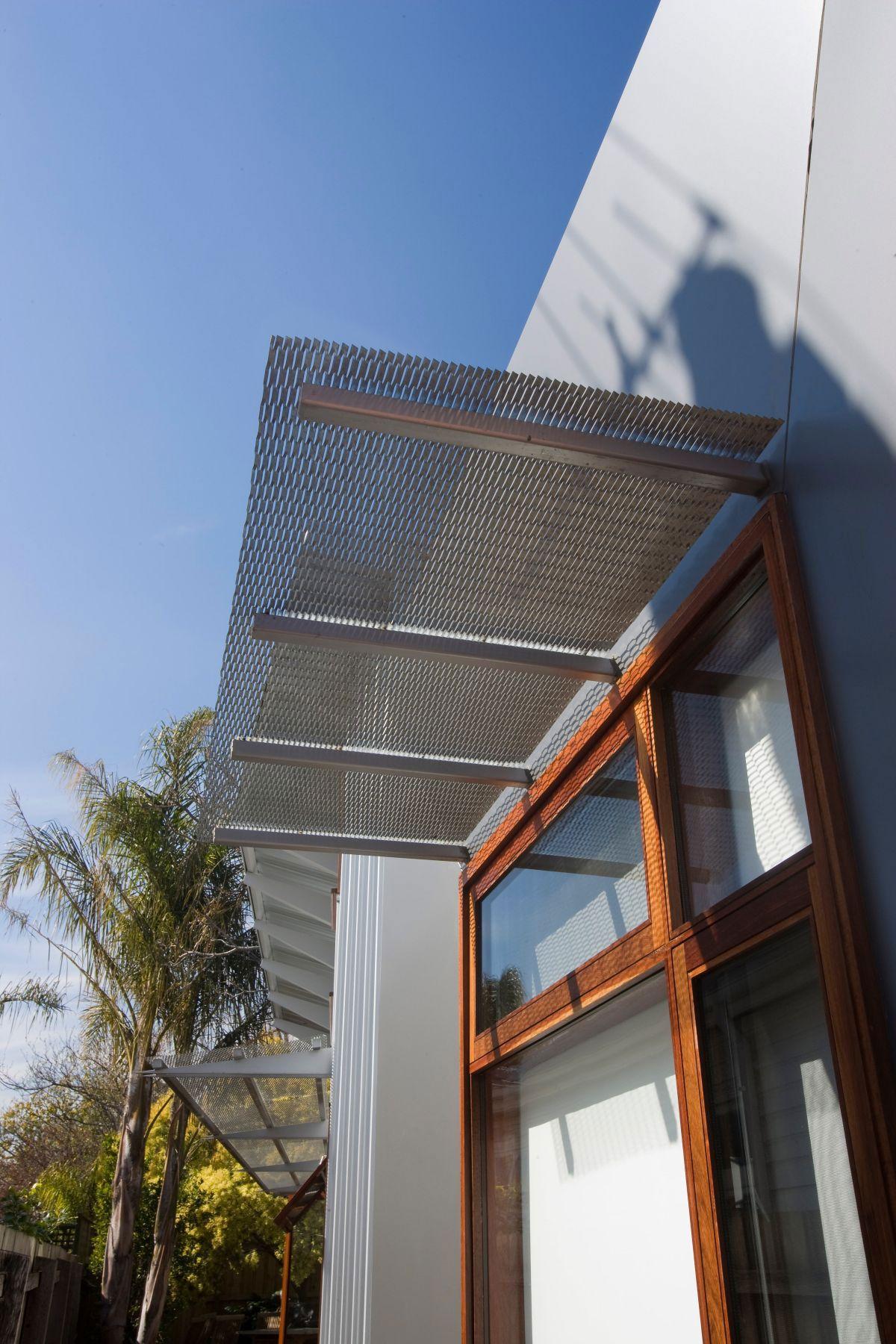 Iron Pergola Above Wood Framed Glass Windows Orrong Road