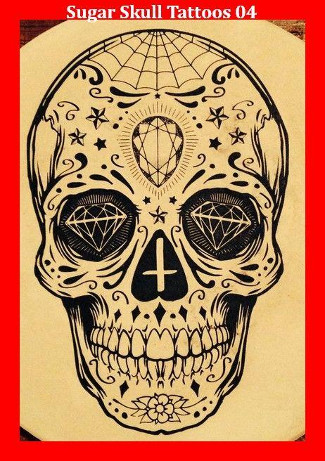 sugar skull tattoos 04 tattoos and skulls totenkopf. Black Bedroom Furniture Sets. Home Design Ideas