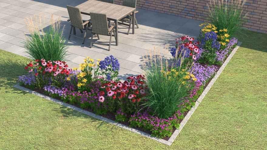 Ein Blumenbeet Vor Einem Haus Blumenbeet Gestalten Blumenbeet Garten Gestalten