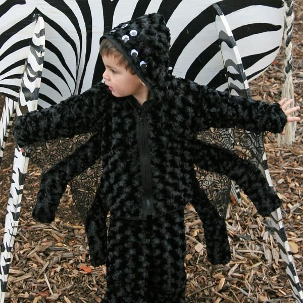 diy boys halloween costumes diy spider costume - Kids Spider Halloween Costume