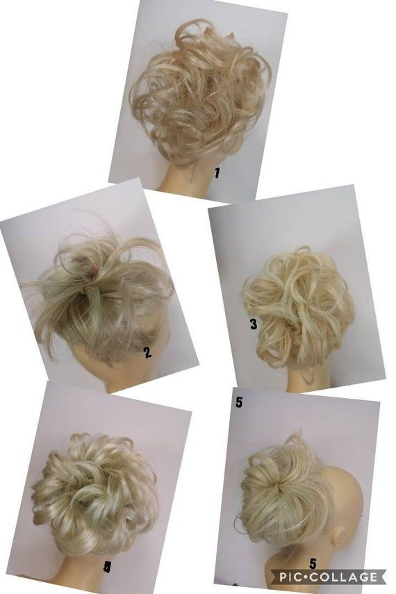Blonde (613) Synthetic  hairpieces scrunchies in different styles and size ideal ponytail extension #fullerponytail
