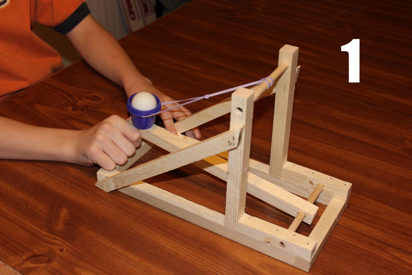 Catapult Kit 1 Pre Cut Parts Wooden Model 12 Long Models Ebay