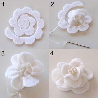 raccolta di tutorial per la realizzazione di fiori in feltro fai da