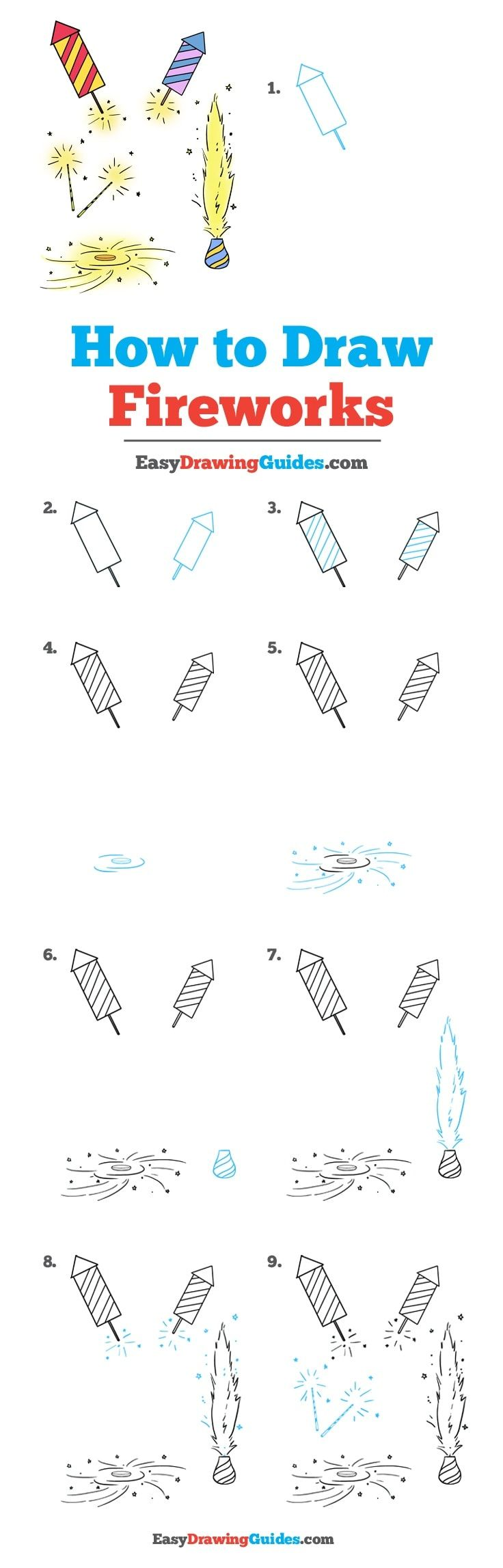 schematic circuit diagram of easy easy diagram of firework how to draw fireworks - really easy drawing tutorial ...