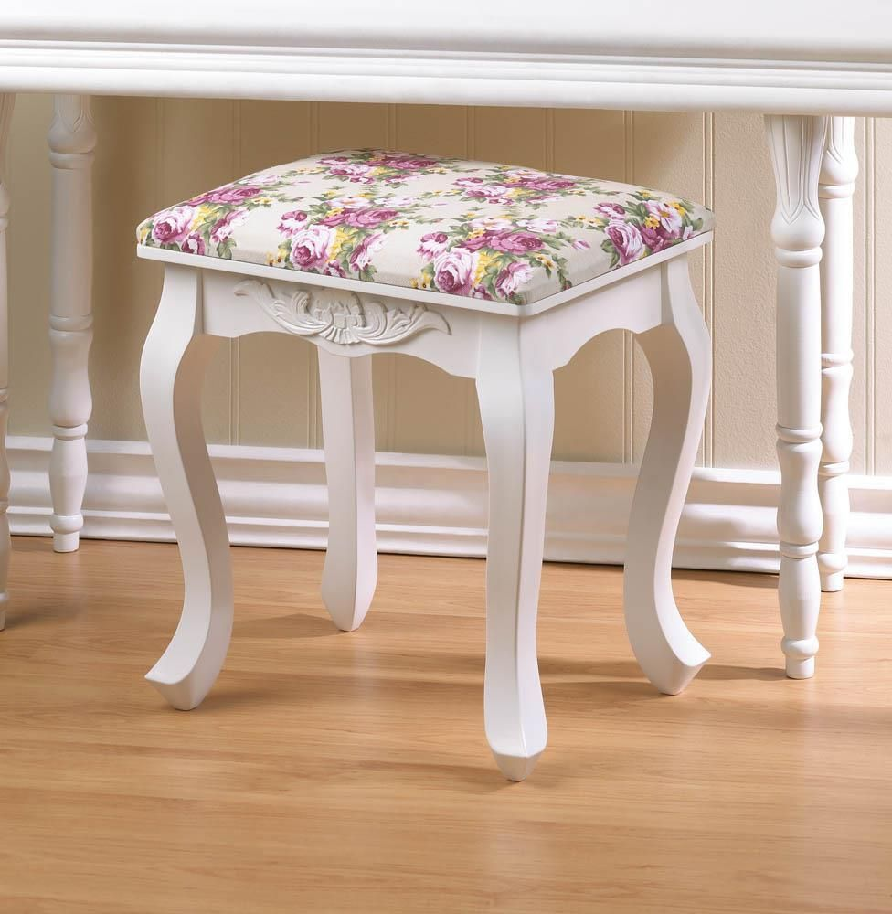 17 Lively Shabby Chic Garden Designs That Will Relax And: Pink Country Rose Garden Foot Stool SAVE $40