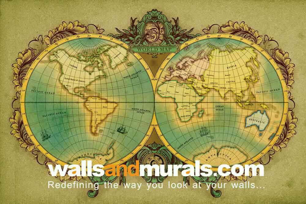 Antique globe world map wallpaper vintage wallpaper pinterest antique globe world map wallpaper gumiabroncs Image collections