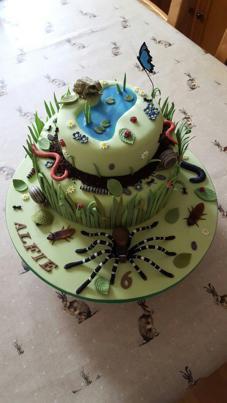 Outstanding Bug Cake Bug Birthday Cakes Bug Cake Cookie Birthday Party Funny Birthday Cards Online Alyptdamsfinfo