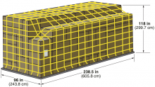 M 6 118 H Iata Uld Code Pga 10 Ft High 20 Ft Flat Pallet With Net Prefixes Pga Pge Pgf Psa Psg P7a P7e P7f A Air Cargo Cargo Container Cargo