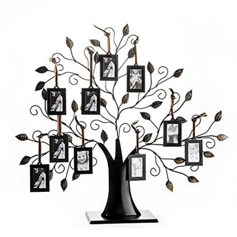 10-Opening Table Top Metal Family Tree Collage Picture Photo Frame ...