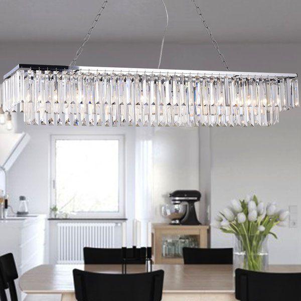 Kitchen Lighting, Hybris 8 Light Crystal Chandelier