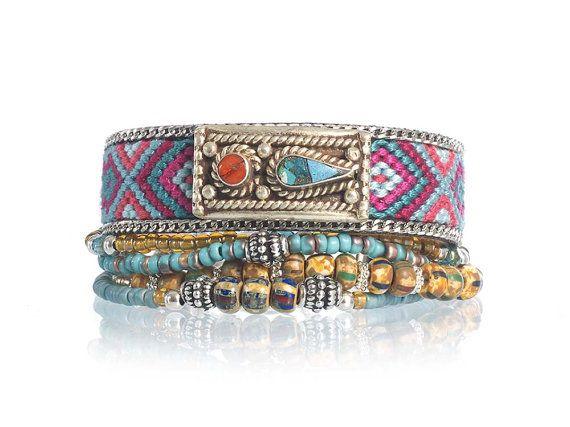 Ethnic bracelet  rustic bracelet  gypsy bracelet  by OOAKjewelz