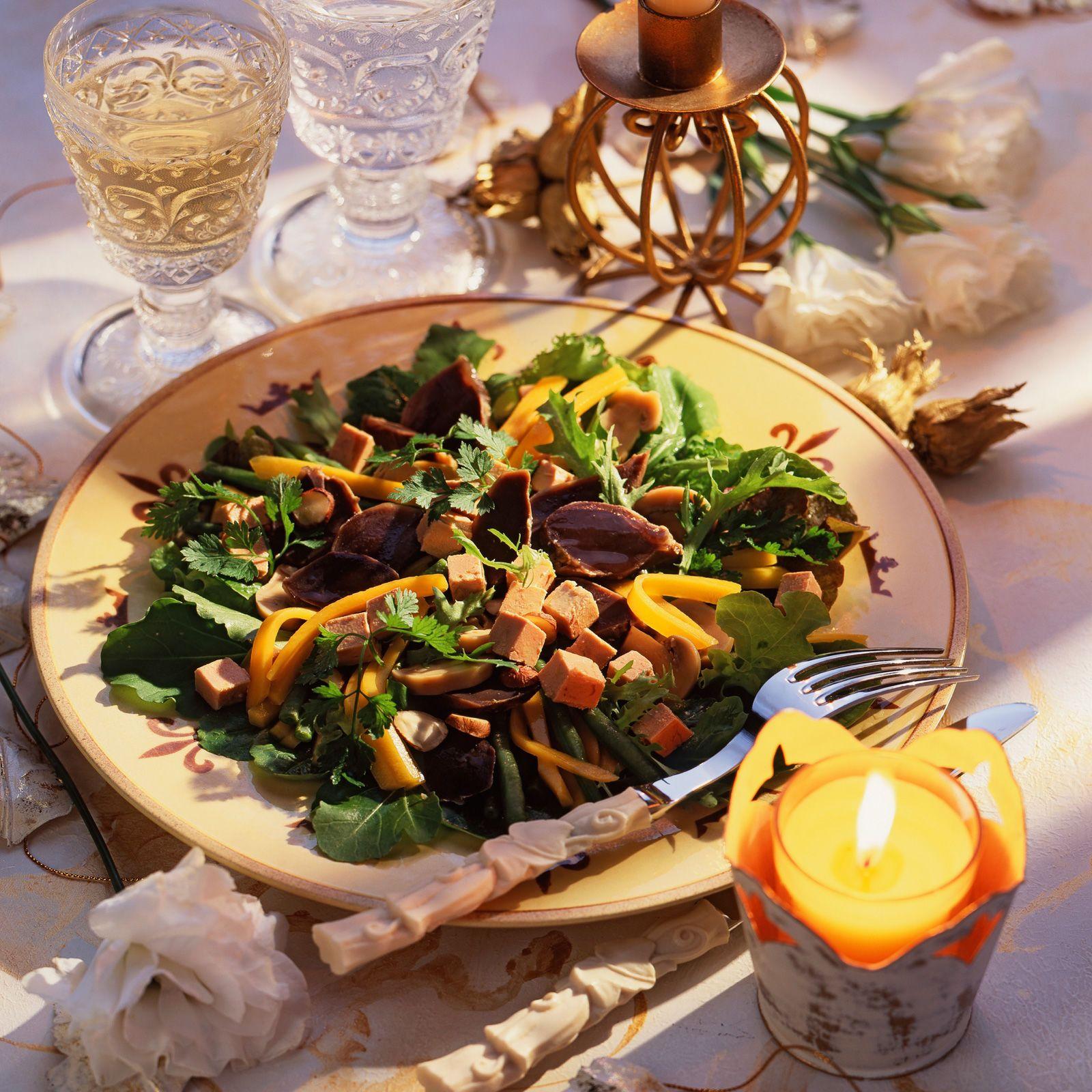 Découvrez la recette de la salade de foie gras à la mangue