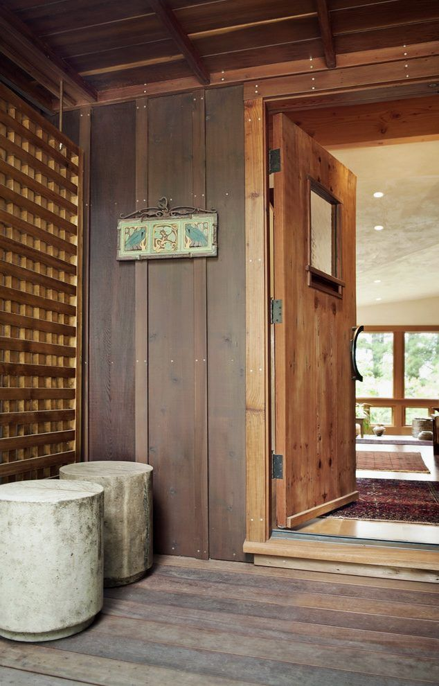 Board And Batten Entry Rustic With Wood Flooring Wood