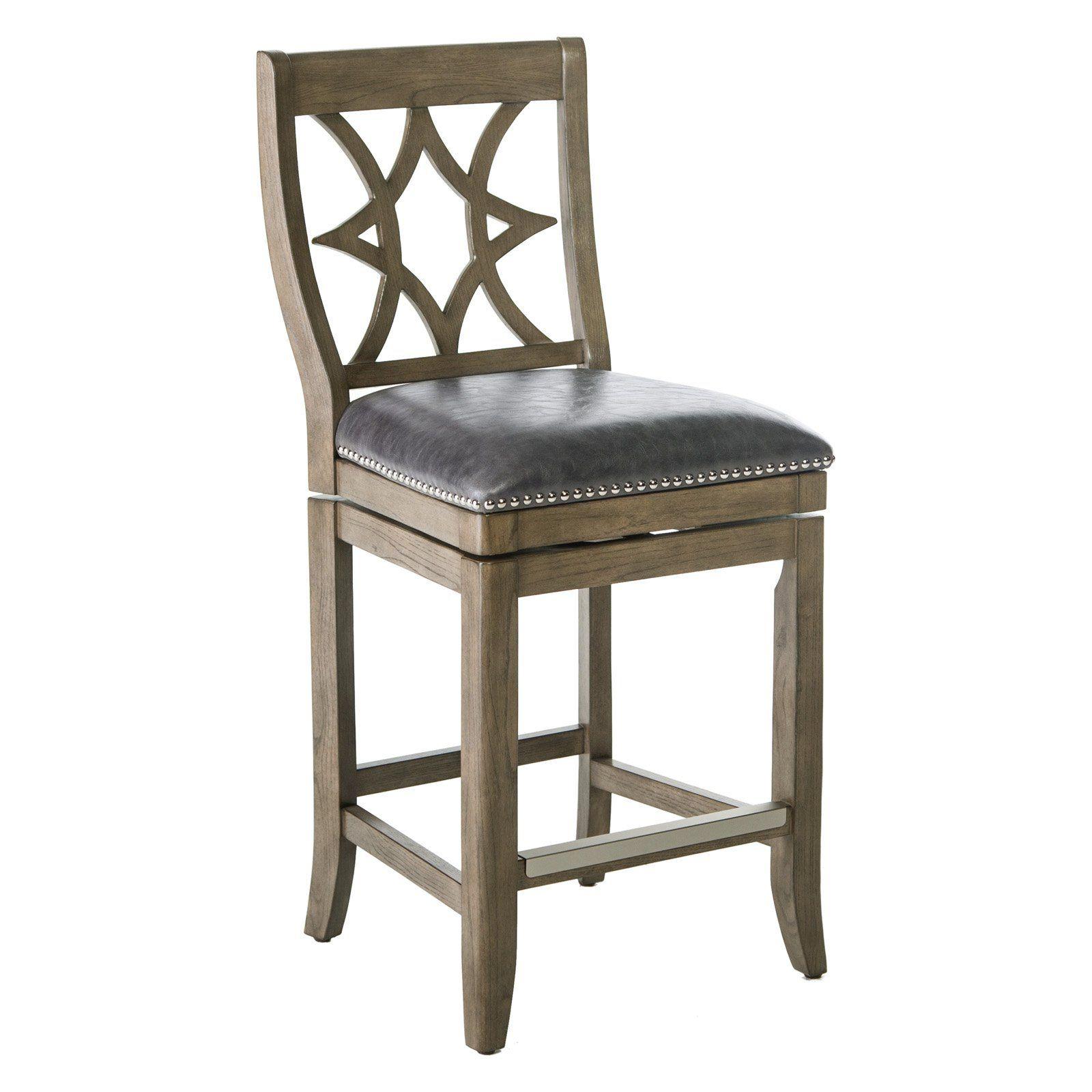 Belham living oliver square seat swivel counter stool in