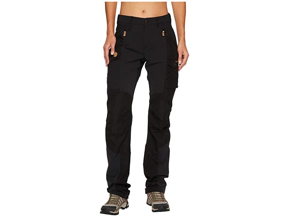 Fjallraven Nikka Curved Trousers Black Womens Casual Pants Move with the mountains and let nature guide the way with the Nikka Curved Trousers Curved fit pants features G...