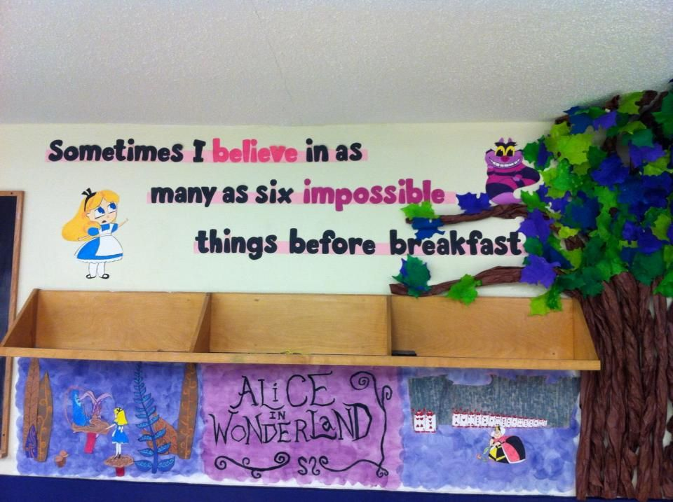 Alice In Wonderland Classroom Wall Decor Disney Themed Classroom