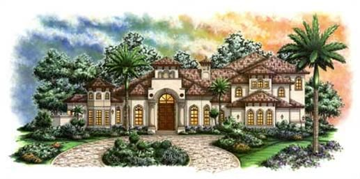 Luxury Home Plans Mediterranean Plans Estrella Model