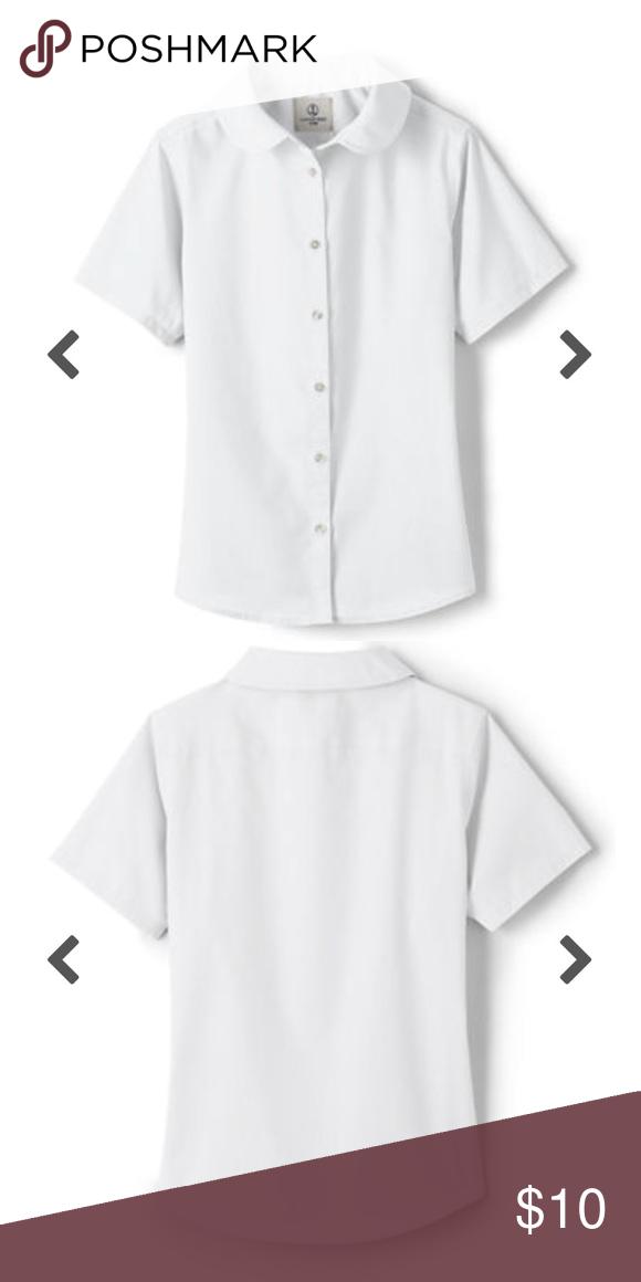 3a8b072499c10 Uniform Girls Short Sleeve Peter Pan Collar Shirt Land s End School Uniform  Girls Short Sleeve Peter