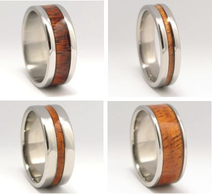 Green Wedding Ideas from Recycled Bride Wooden Wedding Bands Big