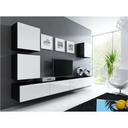 Photo of Stylefy Vago Xxii Quadrat Wohnwand Anbauwand Schwarz Weiß