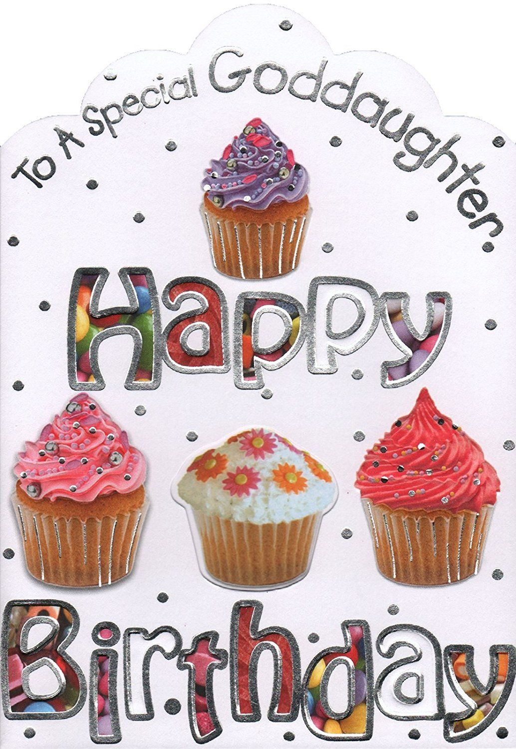 Goddaughter birthday card to a special goddaughter happy
