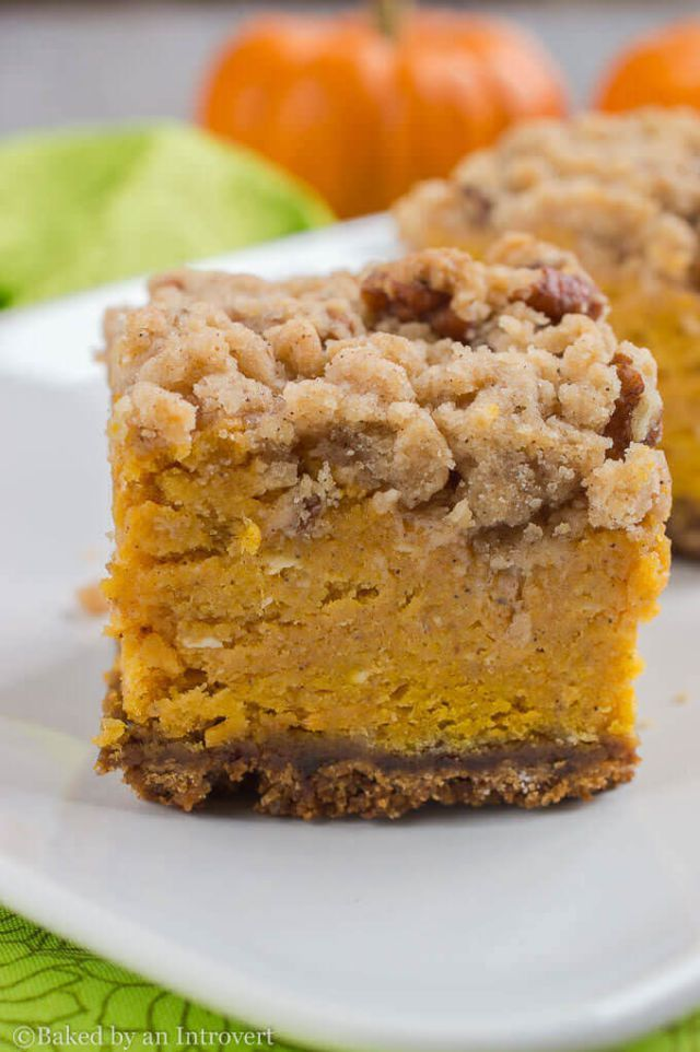 28 Melt-In-Your-Mouth Pumpkin Bars