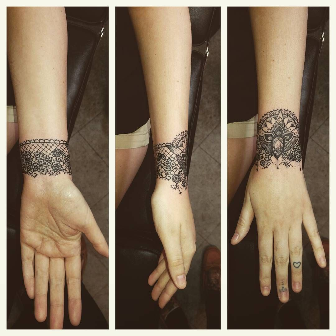 70 Luxurious Lace Tattoo Designs You Have Never Been This Pretty Before Lace Tattoo Design Wrist Tattoos For Women Cuff Tattoo