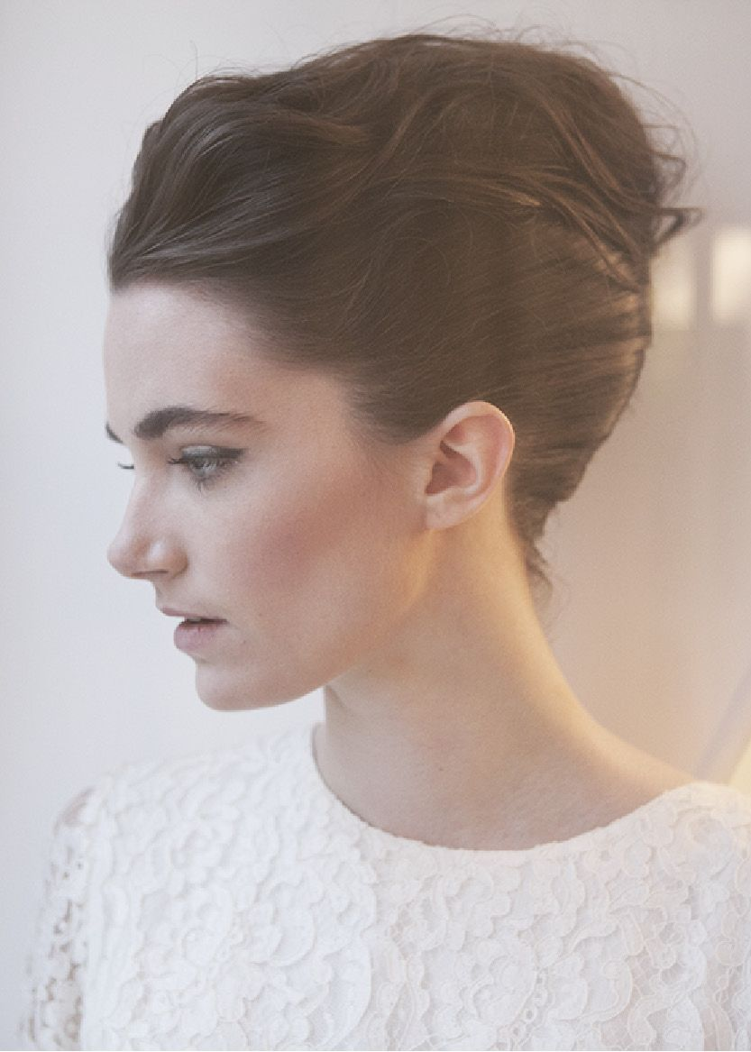 Chignon banane de mariage www.thereporthair.fr Coiffure